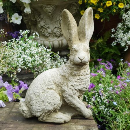 Siting Hare Garden Ornament Reconstituted stone Superb Details