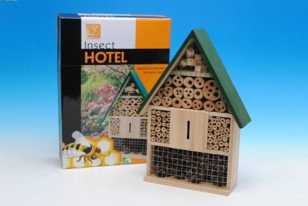 Insect Hotel.  Bee house. For all sorts of insects.  Rolls Royce of bug houses!