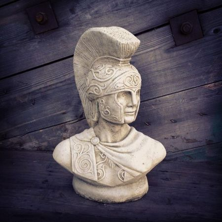 Centurion Bust Garden Statue Made from Reconstituted Stone.