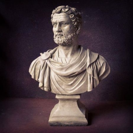 Nero Bust Garden Statue Made from Reconstituted Stone.
