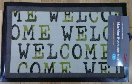 Large Entrance Mat with Contemporary Decor Image. 80 x 50cm
