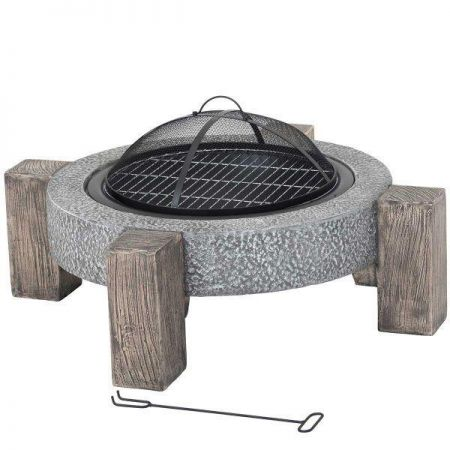 Calida MGO Round Firepit with legs