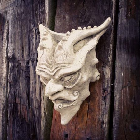 Devil Wall Planter Made from Reconstituted Stone