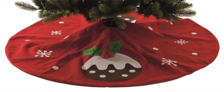 Christmas Pudding Tree Skirt.  140cm diameter