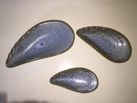 Set of 3 Mussel Dishes. Snacks or trinket dishes
