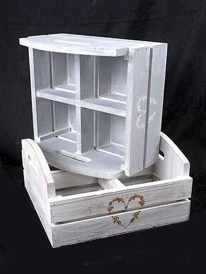 Beachcomber Wooden Heart Box.  Cubby for bits and bobs or put plants in pots in - Pale Grey
