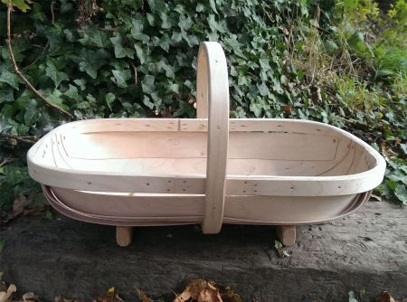 Traditional hand made Sussex garden trug. South Down design