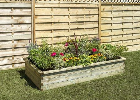 Wooden Garden Sleeper Raised Bed - W1.8mxD.90mxH.30m