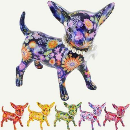 Pomme Pidou Standing Chihuahua Ceramic Money Box.  Nanou available in different colours