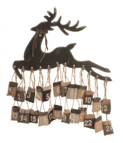 Reindeer Hanging Advent Calendar.  70cm diameter