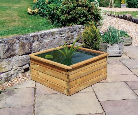 Wooden Garden Aquatic Planter  - 0.9 x 0.9 x 0.45