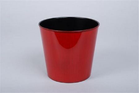 Red Melamine Flowerpot  23 x 21cm.  House Plant Pot Cover