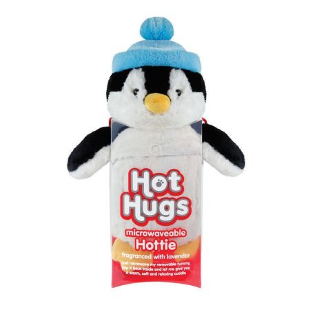 Hot Hugs Penguin with Microwavable Lavender Scented Insert.