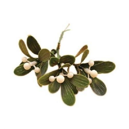 Life-size plastic mistletoe pick. x 5. For wreath and table decorations
