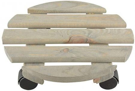 Round Plant Trolley 29cm Diameter Made from 100% FSC wood
