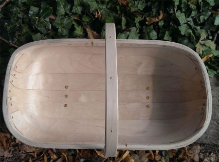 Quality Traditional Hand Made Sussex Garden Trug.  South Down Design NUMBER 8