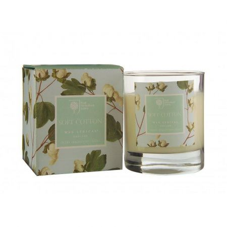Royal Horticultural Society Cotton Soft Scented Candle. Gift Boxed