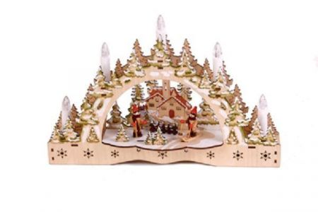 Wooden Hand Crafted Christmas Light Arc.  Superb Quality