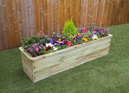 Wooden Garden Sleeper Raised Bed - W1.8mxD.45mxH.45m