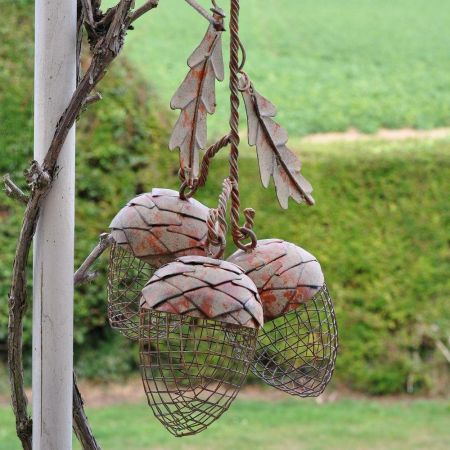 Triple Acorn Bird Feeder