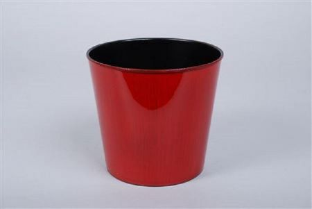 Red Melamine Flowerpot  17 x 15cm.  House Plant Pot Cover