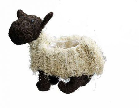 Cute Sheep Planter Made from Natural Fibres