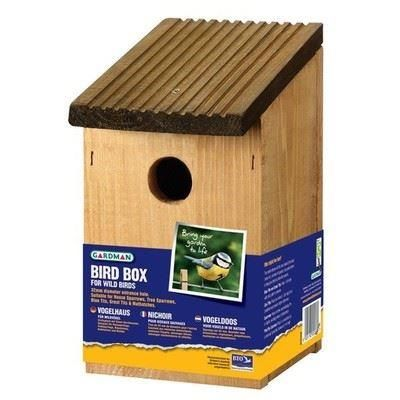 Wooden Value Bird box - FSC from Gardman
