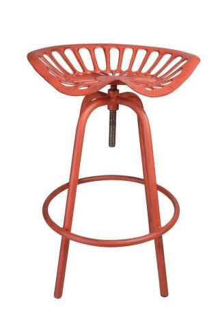 Vintage Tractor Seat Stool. Quirky - Red