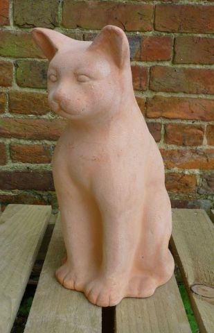 Felix the Terracotta Cat.  36cm tall Large