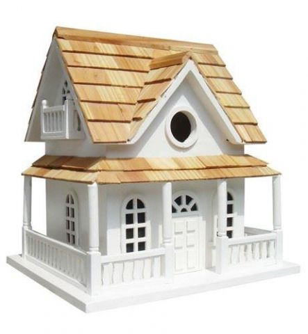 Wild Bird Nesting Box/Birdhouse Hobbit House - White