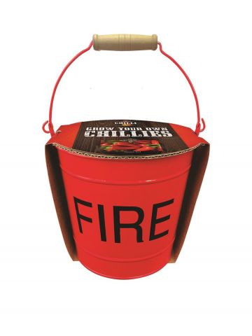 Chilli Fire Bucket Growing Kit with Chilli Demon Red Seeds & Compost