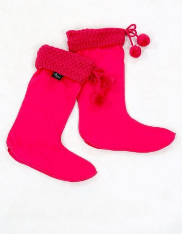 Knitted Boot Warmers from Briers. Pink
