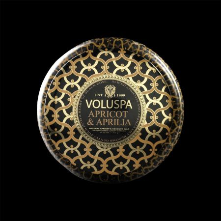 Voluspa Maison Noir Apricot and Aprilla 11oz 2 Wick Tin Luxury Candle