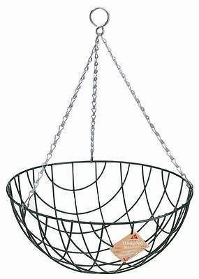 """Traditional wire hanging basket 14"""" x 2"""