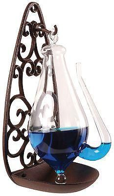 Barometer / Thunder Glass with Hanger. Weather Station