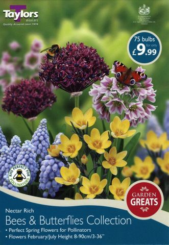 Bees and Butterflies Bulb Collection. 75 bulbs