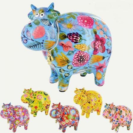 Pomme-Pidou Ceramic Bella The Cow Money Box YELLOW