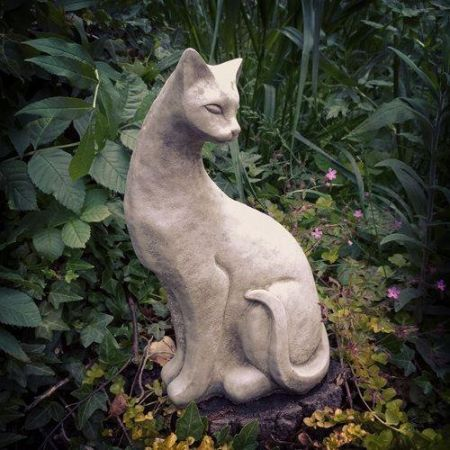 Siamese Cat Garden Ornament made from Reconstituted Stone