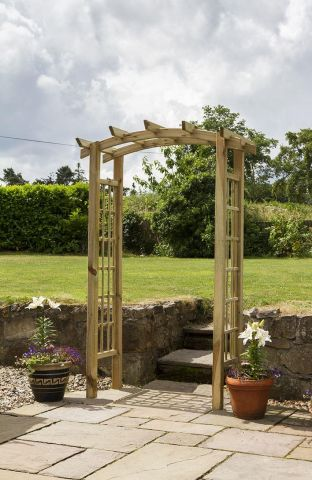 Wooden Garden Moonlight Arch