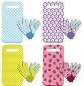 Kneeling pad and gloves set.  Four different colours.  Great as a gift[Blue]