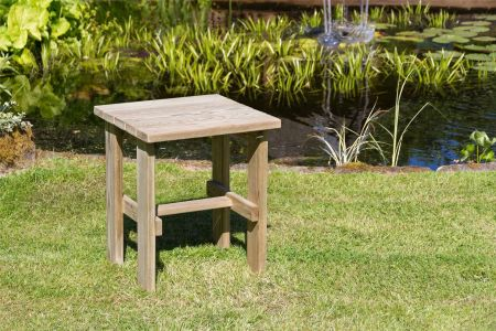 Wooden Garden Lily Side Table