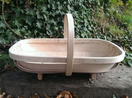 Quality Traditional Hand Made Sussex Garden Trug.  South Down Design NUMBER 6