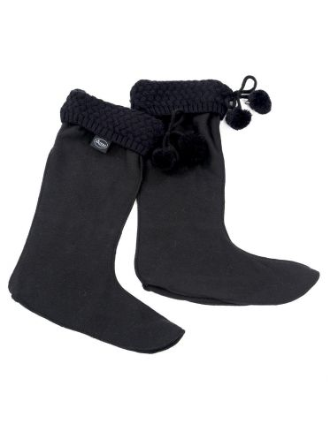 Knitted Boot Warmers from Briers. Black