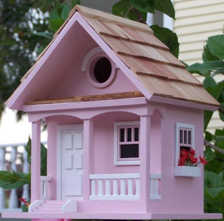 Wild Bird Nesting Box/Birdhouse Cotton Candy Cottage Design in Lilac