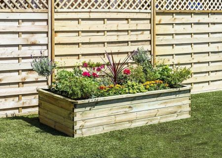 Wooden Garden Sleeper Raised Bed - W1.8mxD.90mxH.45m