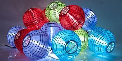 Everbright Solar Chinese Lanterns.  Solar Fairy Lights
