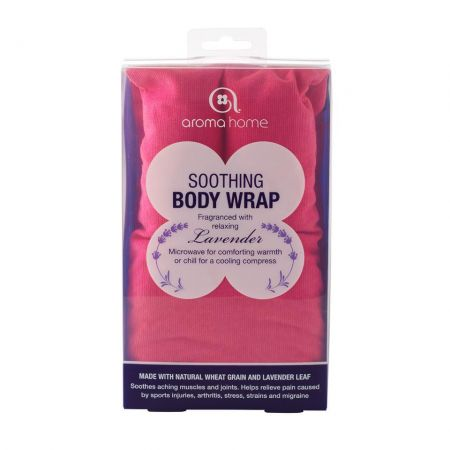 Soothing Hot or Cold Body / Neck Wrap with Lavender. Heat Treatment. Fuchsia