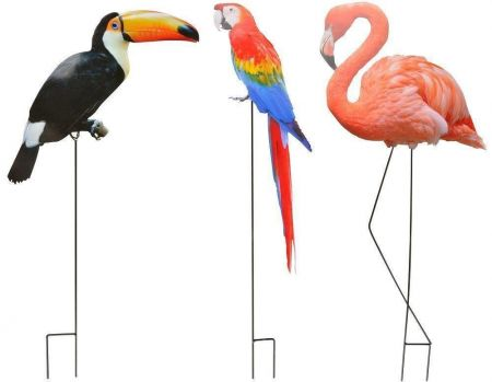 Flamingo on a stick Garden Ornament