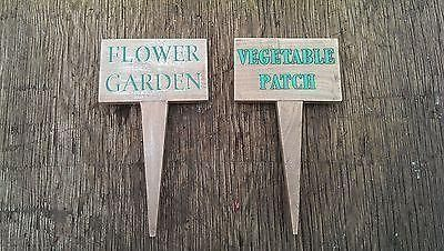 Set of 2 Wooden Garden Signs from Gisela Graham