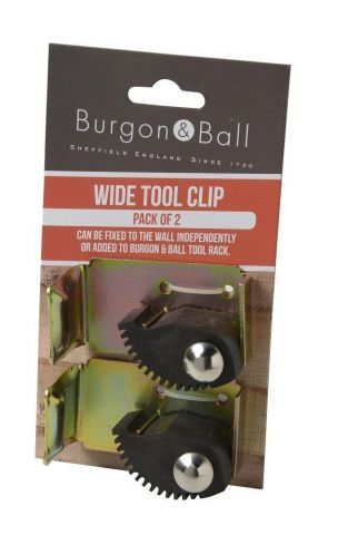 Burgon and Ball Wide Tool Clips. Pack of 2